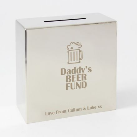 Personalised Beer Tankard Square Money Box